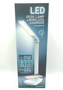 Tzumi LED Desk Lamp And Wireless Charger Android & iPhone, Foldable! New