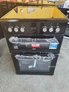 Beko EDC633K Black Electric Cooker Double Oven Ceramic Hobs 60cm XDC633 PEC