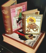 Set of 3 Vintage Secret Storage Book Box - SATURDAY POST USA - 50yrs old
