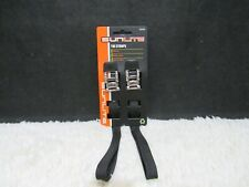 Sunlite Cycling Toe Straps Pair 450mm Black Woven Nylon with Safety Clasp, NEW