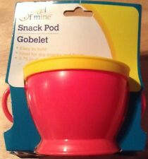 NEW ANGEL OF MINE SNACK POD INFANT TODDLER RED WITH YELLOW Spill Safe