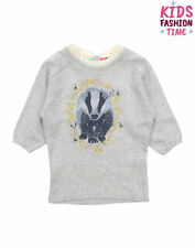 Jam On Toast Sweat Dress Size 6-7Y Embroidered Coated Badger Elasticated Cuffs