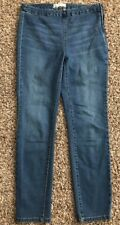 Free People High Waist Zip Waist Elastic Crop Skinny Jeans Pant Ab19