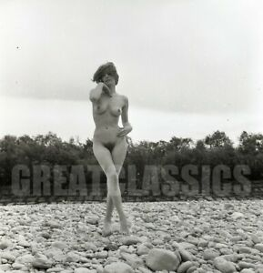 JUTTA LOVELY NUDE NATURE MODEL 1950s 2 1/4 CAMERA NEGATIVE PETER BASCH