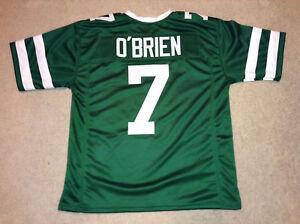 UNSIGNED CUSTOM Sewn Stitched Ken O'Brien Green Jersey - M, L, XL, 2XL