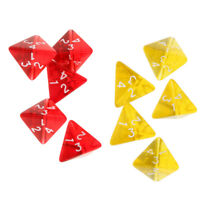 10 Pieces Four Sided Dices Supplies for Dungeons&Dragons Game Dice Role Game