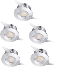 Midore 5Pcs 3W Silver LED Recessed Small Spot Lamp Ceiling Light With Adapter