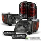 For Smoked 2001-2004 Toyota Tacoma Headlights Corner Signal Bumper Tail Lights