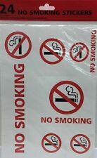 24x No Smoking Stickers Decals