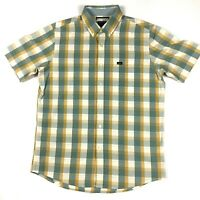 RVCA Mens Regular Fit Size Small Short Sleeve Button Up Shirt Plaid EUC