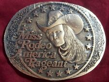 AWARD DESIGN MEDALS MISS RODEO AMERICAN CONTESTANT ONLY BUCKLE SUPER SUPER RARE