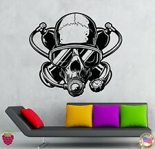 Wall Stickers Vinyl Decal Diver Diving Skull Extreme Water Sport Zombie (z2150)