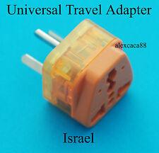 UK AUS Euro USA to Israel Universal Travel Adaptor AC Power Plug + Surge Protect