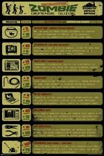 HUMOR POSTER Zombie Defense Guide