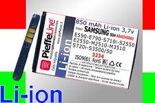 per samsung S2550 E2550 M2510 M3510 batteria li-ion 850 mAh