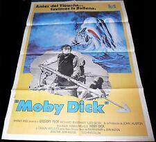1956 Moby Dick ORIGINAL 1SH RR78 SPAIN POSTER Gregory Peck John Huston
