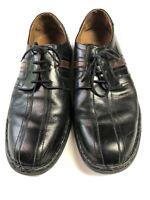 Josef Siebel Men's Size 46/ US 11.5-12 Black Leather Casual Shoes
