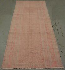 "Handmade Decorative  Cotton Flatweave 320cm x 140cm 10'6""x4'7"" early 20 century"