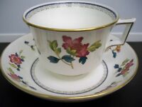 WEDGWOOD CHINA WILLIAMSBURG ''CHINESE FLOWERS'' CUP AND SAUCER