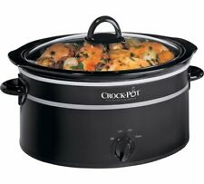 new Crock-Pot 6.5L Compact Slow Cooker kitchen appliance black