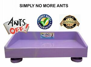 ANT PROOF FEEDING TABLE FOR CATS & DOGS. FACTORY SECONDS.PURPLE WITH CREAM COLOR