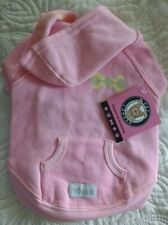 "PET LONDON DOG PUPPY HODDIE COAT SWEAT TOP Pink Zip Neck  medium. 10"" back"