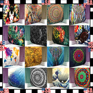 Wall Hanging Tapestry Bedspread Mandala Meditation Hippie Psychedelic Poster UU