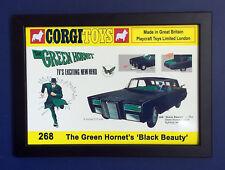 Corgi Toys 268 The Green Hornet Vintage 1967 A4 Size Framed Poster Shop Sign