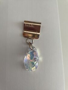 brklz Timeless Swarovski Teardrop Crystal Rose Gold Dog Collar Charm