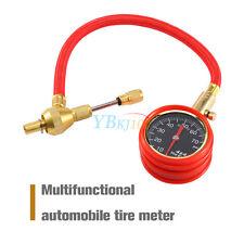 Car Van Truck Tyre Tire Air Line Inflator Dial Pressure Meter Gauge Compressor