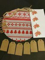 Christmas Jam Jar Covers / Chutney / White / Red Scandinavian