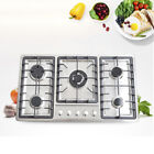 """34"""" Stainless Steel 5 Burners Built-In Stove Cooktop Gas NG/LPG Hob Cooker photo"""