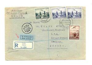 JUGOSLAWIEN LP R - BRIEF 1938 > SWA WINDHUK AB CELJE , Air mail cover