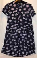 La Cera Hawaiian Tropical Short Sleeve Dress Size M Front Pockets Free Shipping!