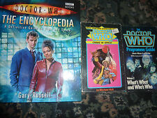 Doctor Who The Encyclopedia + Programme Guide +Crisis in Space. 3 book bundle.