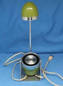 60's Hamilton Industries Telescoping Bullet Model 60 Table Lamp Green