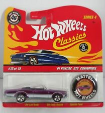 Hot Wheels 1:64 40th Anniversary with Button - Pontiac GTO Convertible Brand new