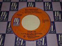 Milt Matthews: Trust Me / Oh I Can't Believe You're Gone 45 - Soul