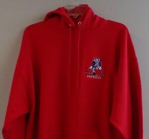NFL New England Boston Patriots Retro Logo Embroidered Hoodie S-5XL, LT-4XLT New