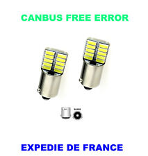 2 AMPOULES LED CITROEN C4 GRAND PICASSO BAX9S H6W 20 SMD BLANC CANBUS 12V
