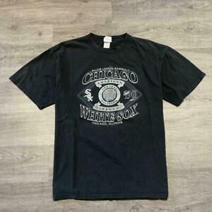 Vintage 90's MLB Chicago White Sox T shirt Funny Black Cotton Tee Gift Men Fan