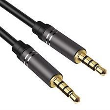 2 Pack 4 Ft Male to Male Audio Cable,Jeselry 4 Pole Hi-Fi Stereo Sound 3.5mm Aux