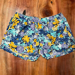 Patagonia Women's Barely Baggies Shorts Large Floral 100% Nylon Athletic CC13