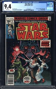 Star Wars # 4 (1977) CGC 9.4 NM 1st Print - WP - White Pages - Marvel