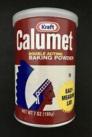 Kraft's CALUMET DOUBLE ACTING BAKING POWDER, 7 oz (198 g), Fresh!