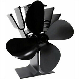 4 Blade for Heat Powered Wood Stove Fan Wood Log Burner Fireplace Friendly Fan