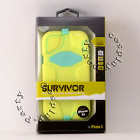 Griffin Survivor iPhone 5 5s iPhone SE Hard Case w/Holster Belt Clip   Lime Mint