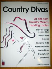 Piano/Vocal/Guitar Songbook: COUNTRY DIVAS 21 Hits From Country Music's Ladies