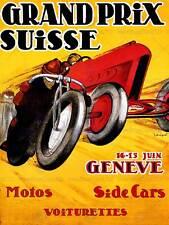 EXHIBITION SPORT MOTORCYCLE SIDECAR GENEVA SWITZERLAND VINTAGE POSTER ART 858PY