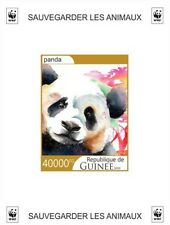 Stamps fauna WWF panda, monkey, elephant, giraffe